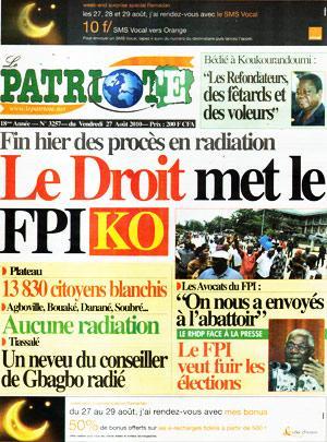 Le Patriote, le journal du RDR d'Alassane Ouattara