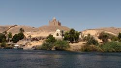Passage de la 1ère cataracte - Le mausolée de l'Aga Khan - Août 2009