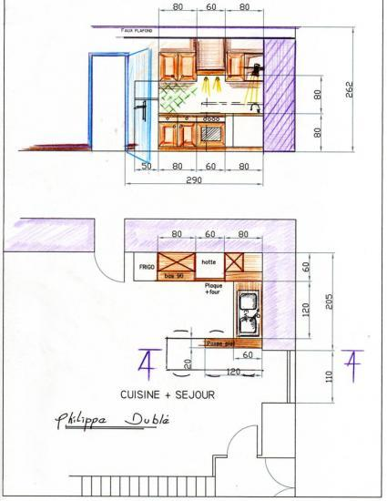 Exemple de plans d 39 agencement for Modele plan de cuisine