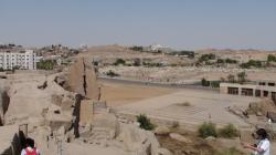 Vue de l'ensemble du site - Au loin en haut l'hôtel Basma - Août 2010