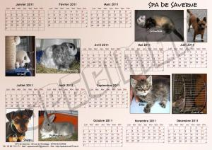 Calendrier SPA A3 - Mixte - 2011