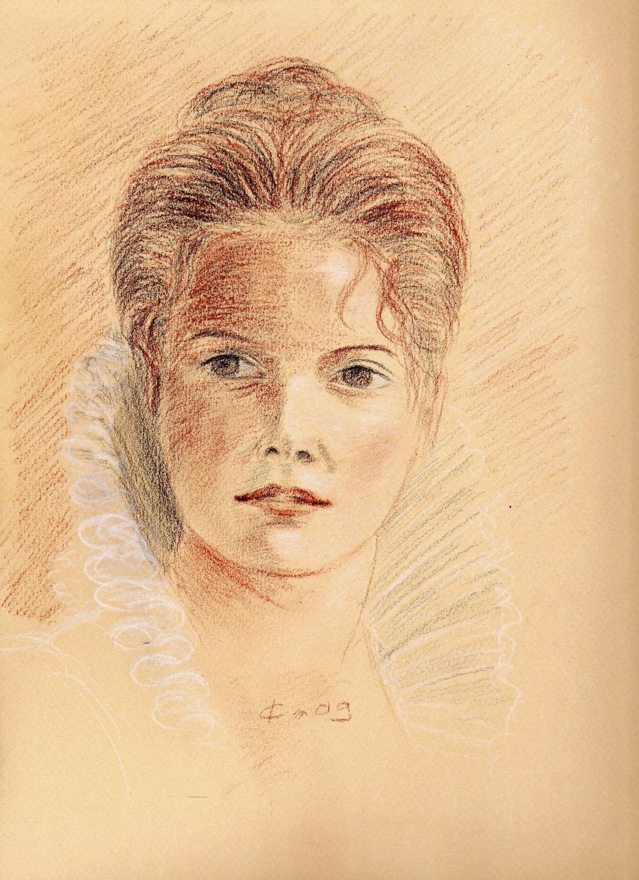 Portrait 8, trois crayons