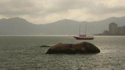 Vista sobre o mar em Florianopolis