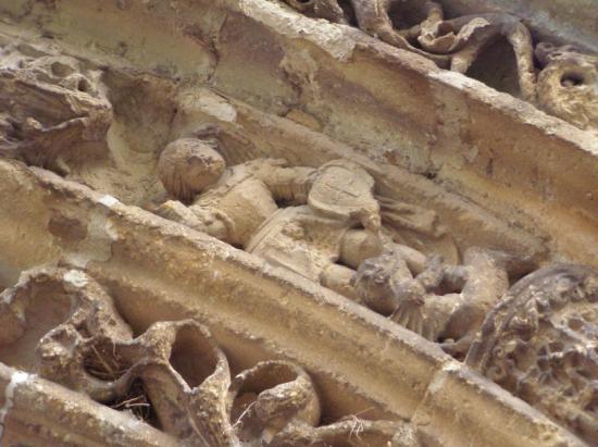 Eglise de Charbogne ( détail )