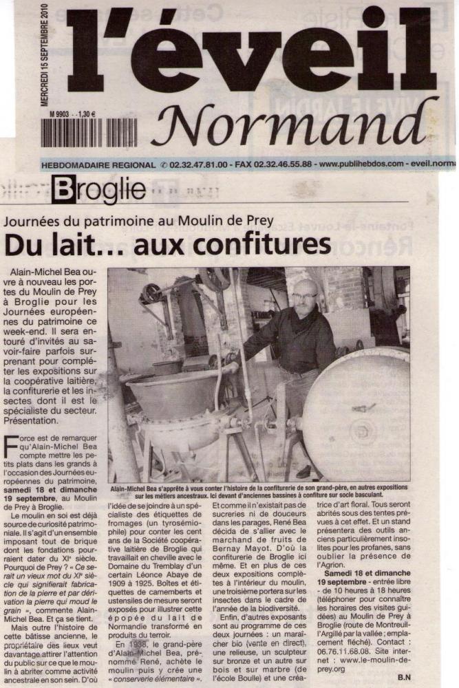 Article de l'Eveil Normand sur les JEP 2010