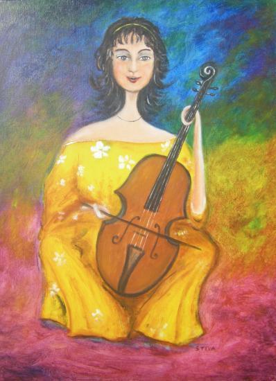 La Femme-Violoncelle, 54x 73 cm