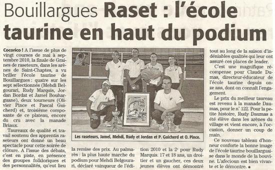Midi-Libre samedi 18 septembre 2010