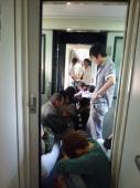 L'aventure du rail à la chinoise, tassés les uns aux autres durant 40 h