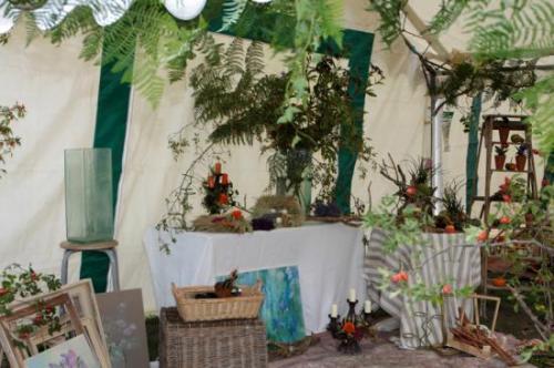 Le Stand de la décoratrice florale lors des JEP 2010 Photo Yves Jaouen avec son aimable autorisation