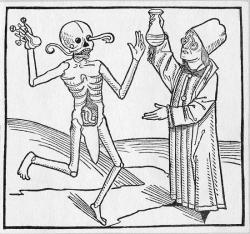 La mort se joue de la médecine - Liber chronicarum - 1493