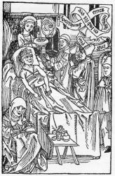 Prêtre et médecin - Gravure sur bois - Nuremberg - 1489