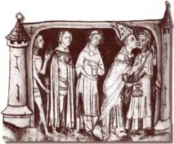 Saint Martin embrassant un lèpreux