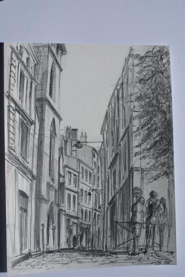 Rue jouannet crayon 2B septembre 2010