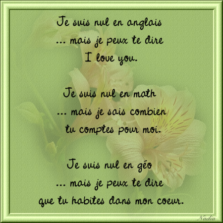 message de coeur