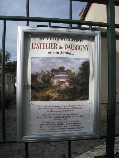 L'Atelier de Daubigny à Auvers sur Oise