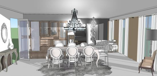 Salon Salle à Manger Baroque