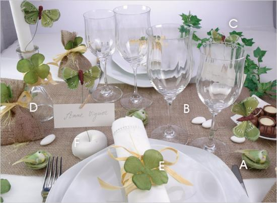Theme deco de table pour mariage batheme communions fiancail - Decoration de table champetre ...