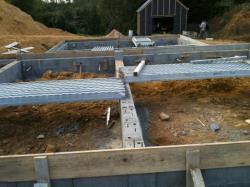 Préparation plancher du vide sanitaire