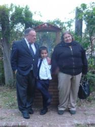 Ricardo y Maca con el nieto -  San Raphael