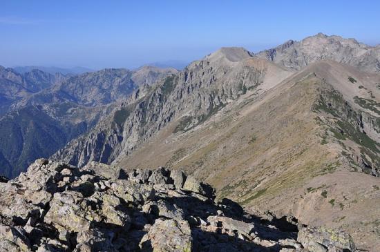 La crête entre le Monte Cardo et le Monte Rotondo