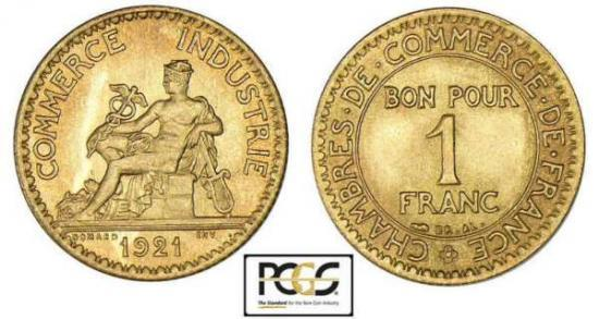 1 franc chambre de commerce for Chambre de commerce de france bon pour 2 francs 1923