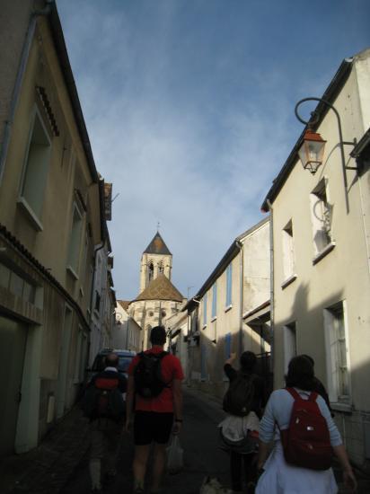 Randonneurs à Vétheuil