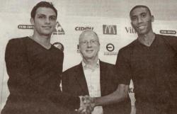 Mathieu Beda , Jacques Rousselot et Abdeslam Ouaddou