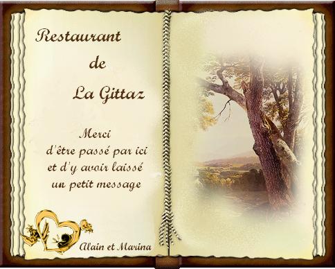 livre d'or restaurant de La Gittaz
