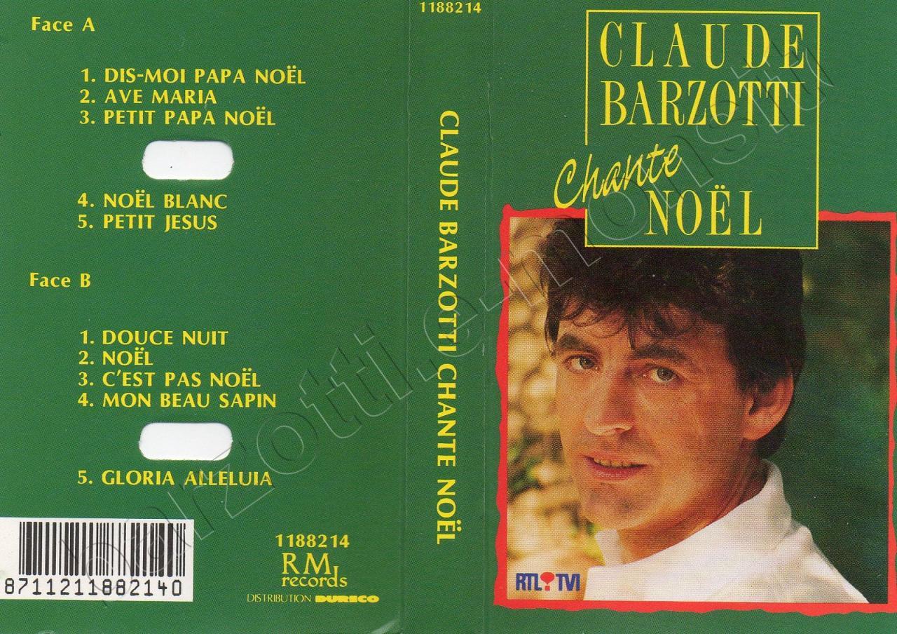 K7 audio Claude Barzotti chante Noël