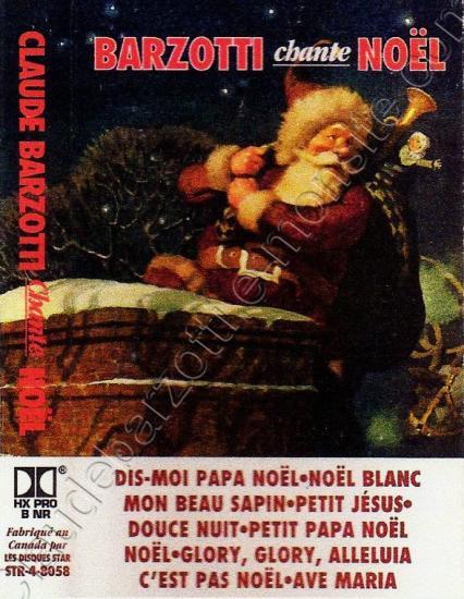 K7 audio chante Noël Canada