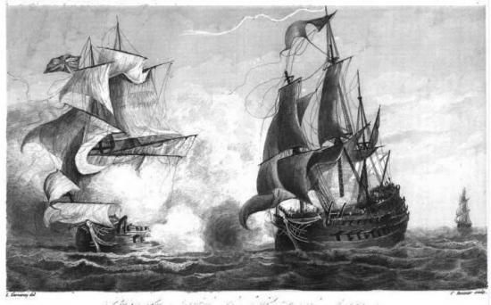 Bataille navale franco-britannique dans la rade des Basques