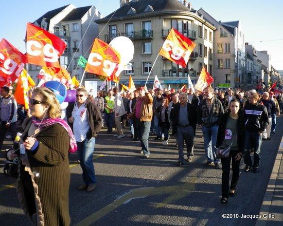 Manifestation contre la réforme des retraites à Château-Thierry