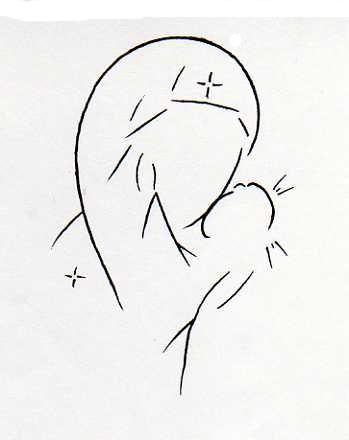 Dessins illustrations et croquis - Dessin d ange gardien ...