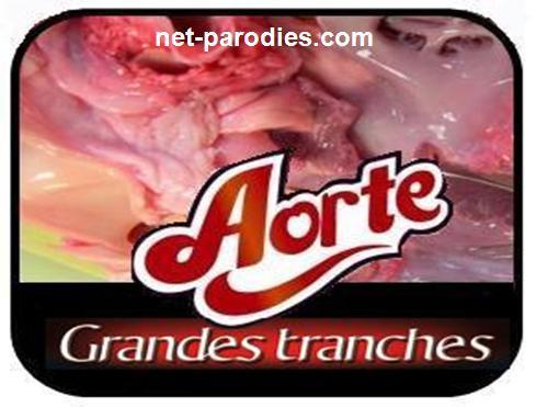 parodie fausse pub jambon aoste aorte