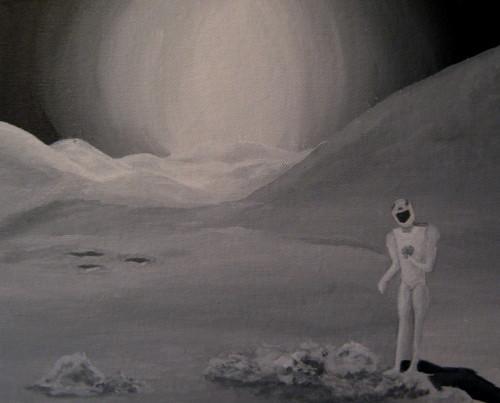 robot sur la lune