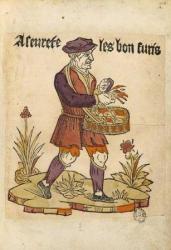 Marchand d'allumettes, Cris de Paris, vers 1500, BnF