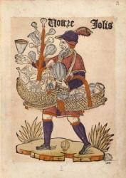 Marchand de verres, Cris de Paris, vers 1500, BnF
