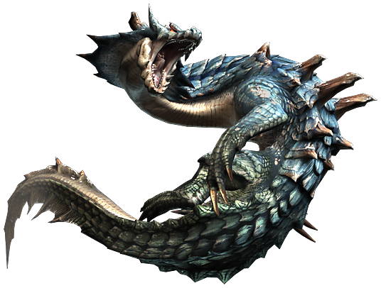 liste des grands monstre de monster hunter tri Lagiacrus