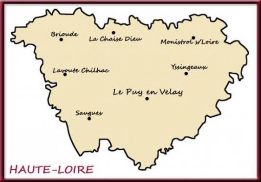 Carte de la Haute-Loire