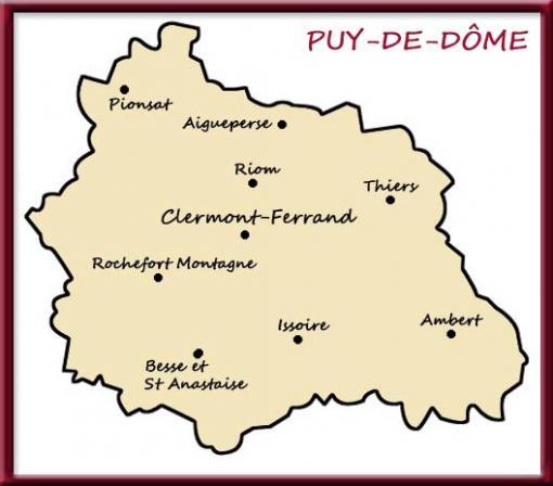 Carte du Puy-de-Dôme