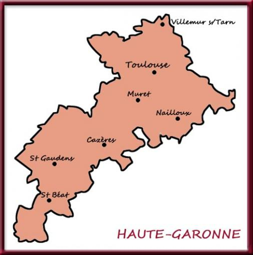 Carte de Haute Garonne