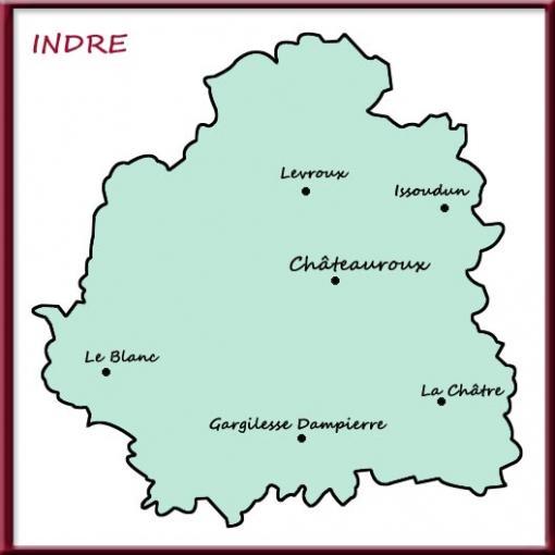 Carte de l'Indre