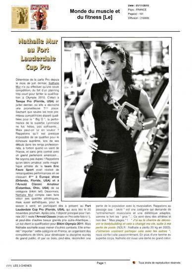 Monde du muscle nov 2010