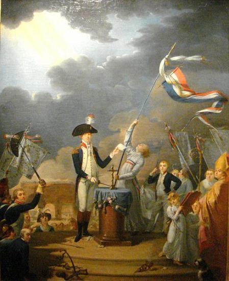 La Fayette prête serment à la nation et au roi , le 14 juillet 1790 à la fête de la fédération