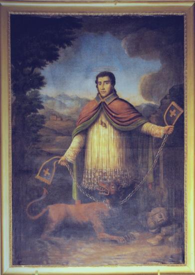 tableau de St Bernard à Meillerie