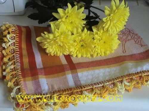 Bordures au crochet pour vos torchons de cuisine - Torchon cuisine original ...