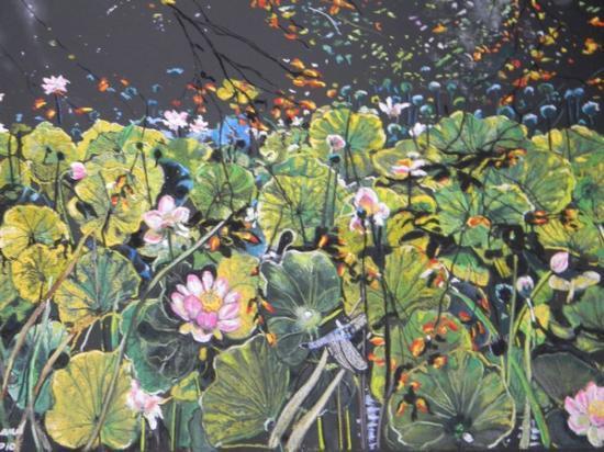 Fleurs et feuilles de lotus