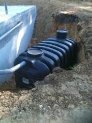 Installation de la cuve toutes eaux