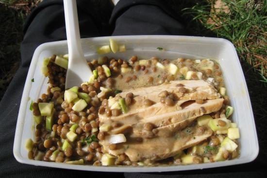 Salade de lentilles courgettes