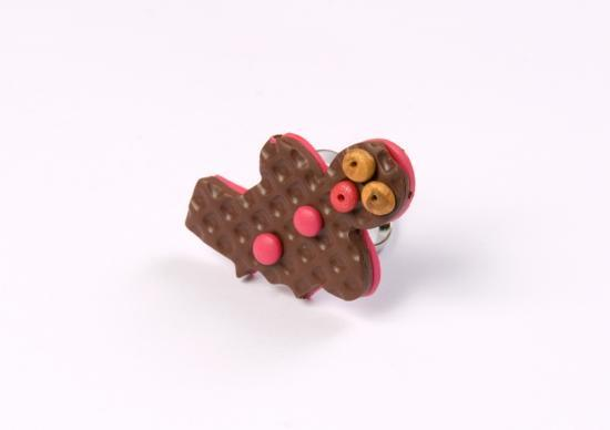 bague pain d'épice chocolat croqué